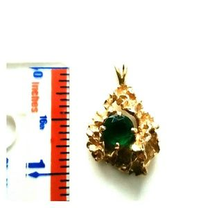 Stunning 14K Gold and Emerald Pendent